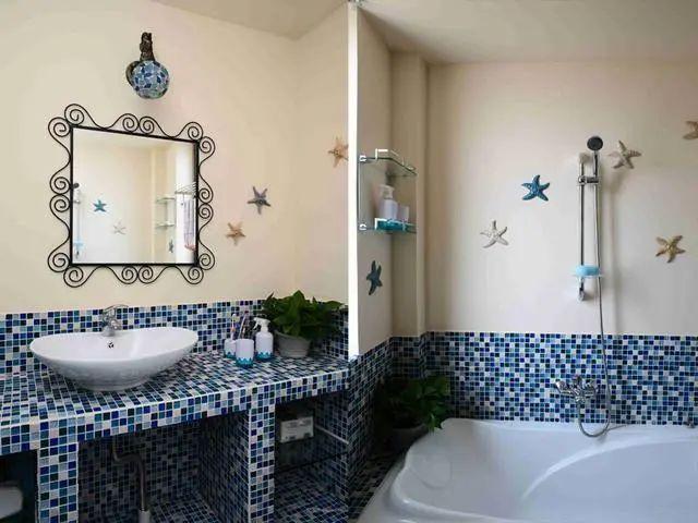 晒晒我家地中海风格装修,朋友都很羡慕,唯一美中不足的是浴缸