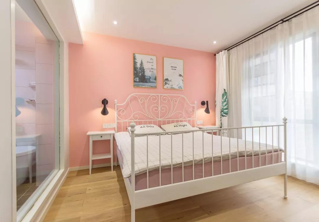 107m²北欧风三居室,粉色的卧室,被宠成了小公主!