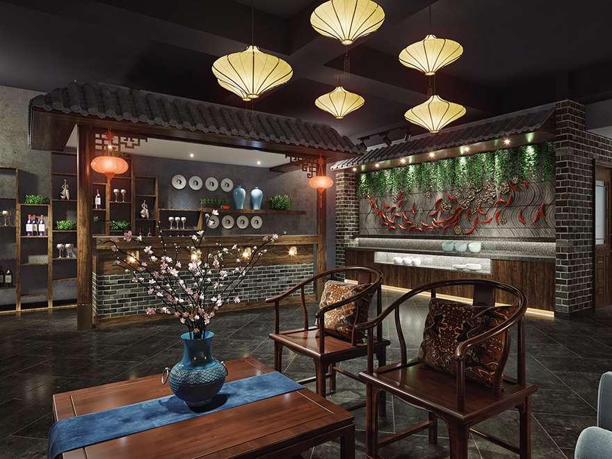 中式风格-火锅店