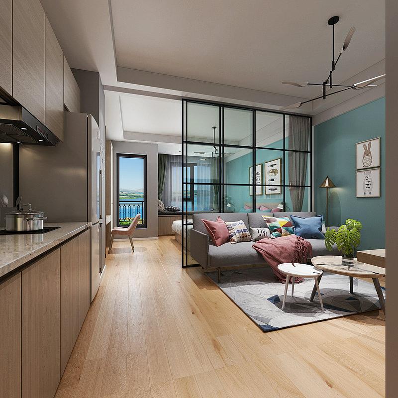 悦丽海湾三期单身公寓装修