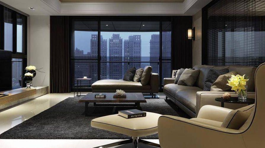 西安裝修案例現代簡約風格裝修案例_西安紫薇花園四室兩廳200平裝修效果圖