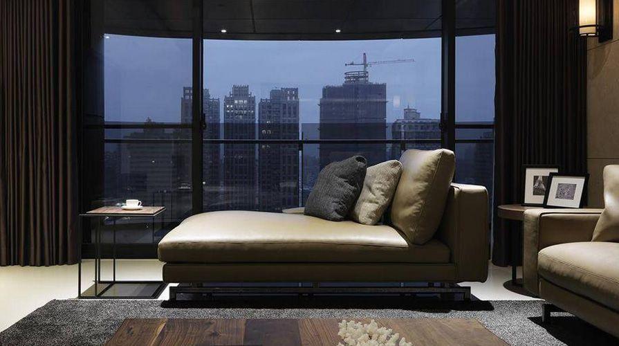 西安装修案例现代简约风格装修案例_西安紫薇花园四室两厅200平装修效果图