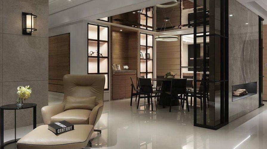 现代简约风格装修案例_西安紫薇花园四室两厅200平装修效果图