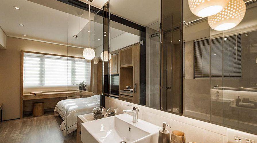 西安装修案例原木色风格装修案例_西安康乐园两室一厅60平装修效果图