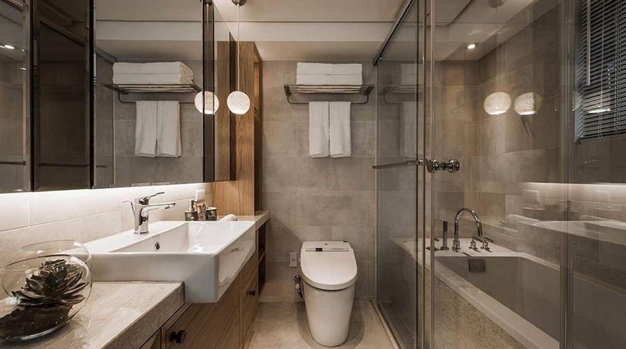 原木色风格装修案例_西安康乐园两室一厅60平装修效果图