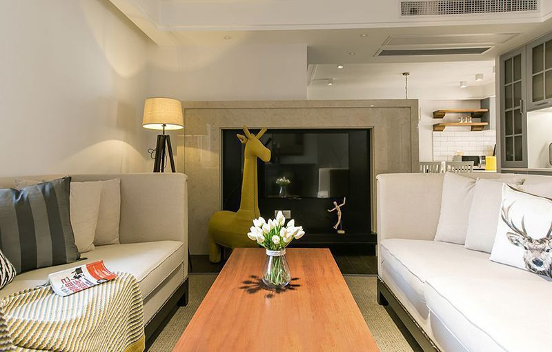 西安装修案例美式乡村风格装修案例_西安天汉中心三居室130平装修效果图