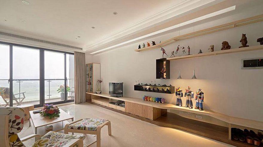 西安装修案例北欧风格装修案例_西安万象湾三居室120平装修效果图