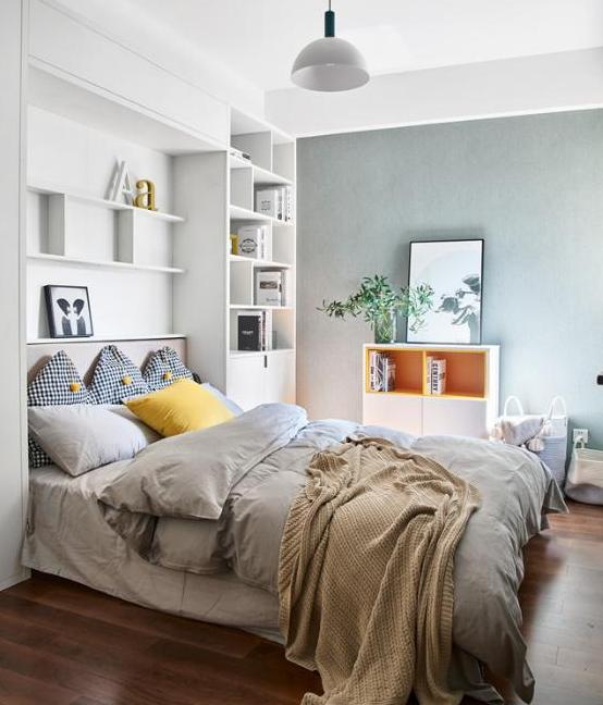 臥室小不能放床頭柜怎么裝飾 給你7套參考案例!