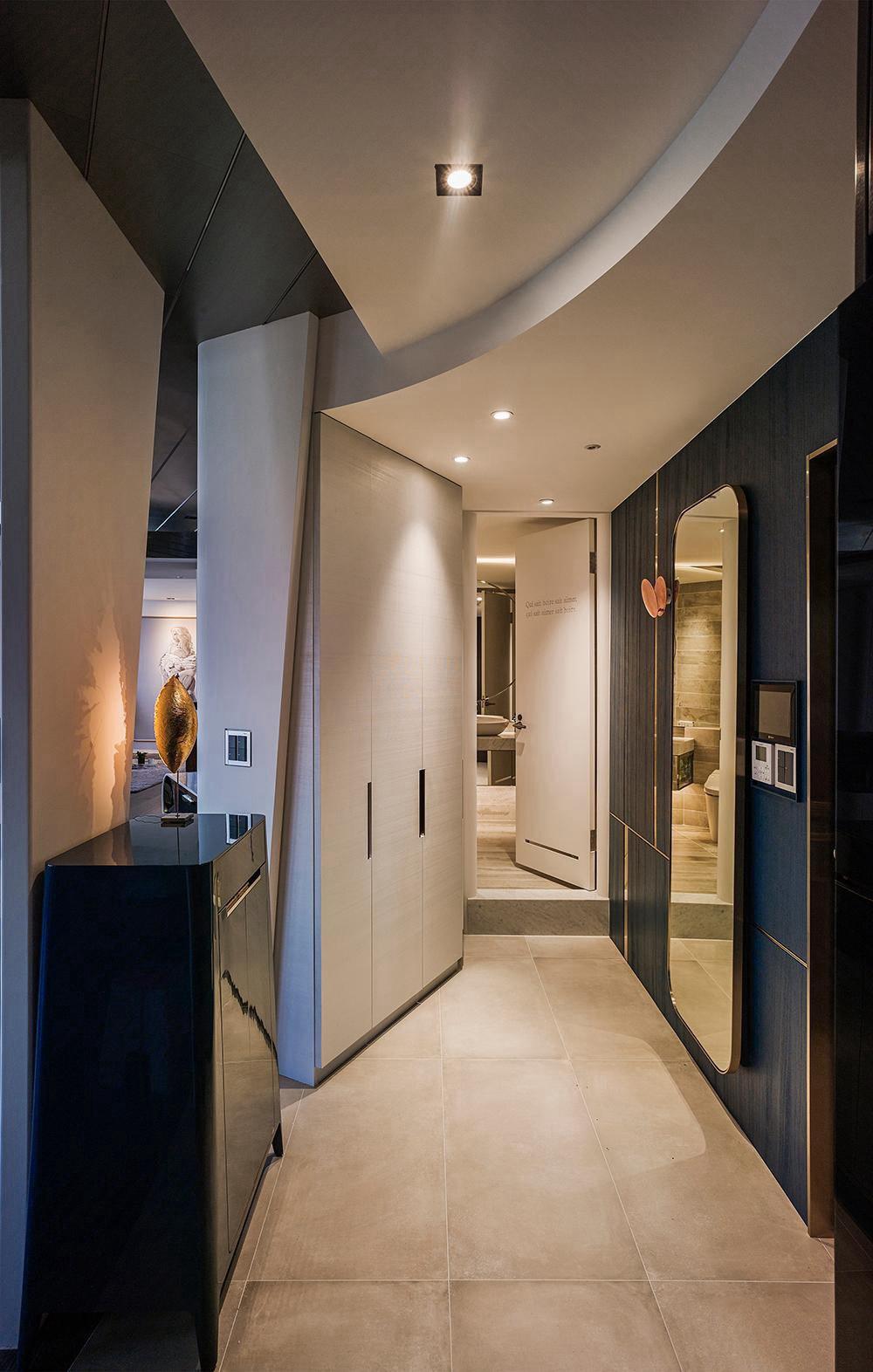 太原215㎡现房装修,后现代轻奢风格让艺术自在、愉悦