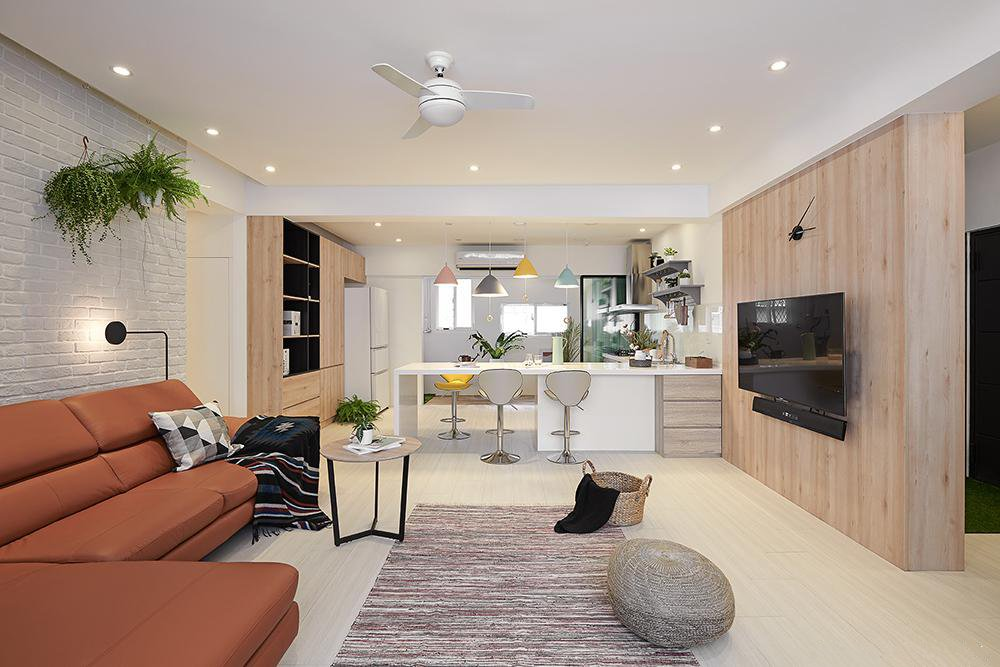 110㎡北欧风格装修,用白色呈现活力阳光屋