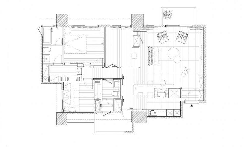 太原三居室装修,设计改变视觉宽度