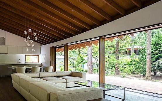 青山绿水间盖别墅,搭配自然景致更美