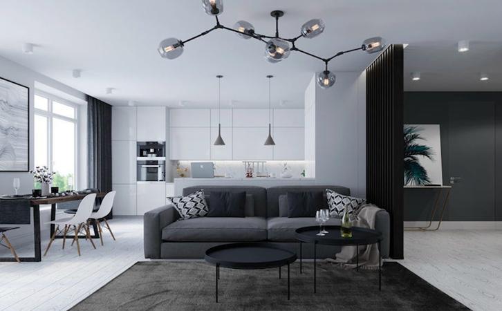 客厅装修设计重要性巧用家具填补空间u型沙发的图片