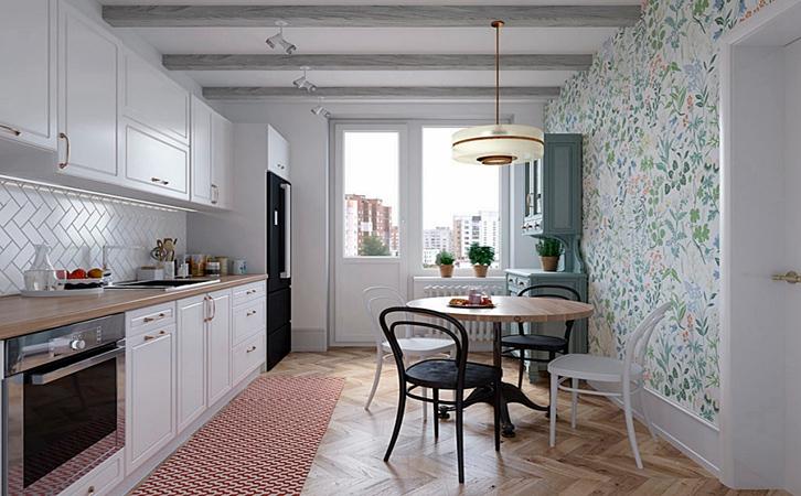 小户型房子装修案例餐厅/厨房设计的效果图