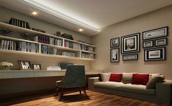 小户型房子装修案例书房设计的效果图