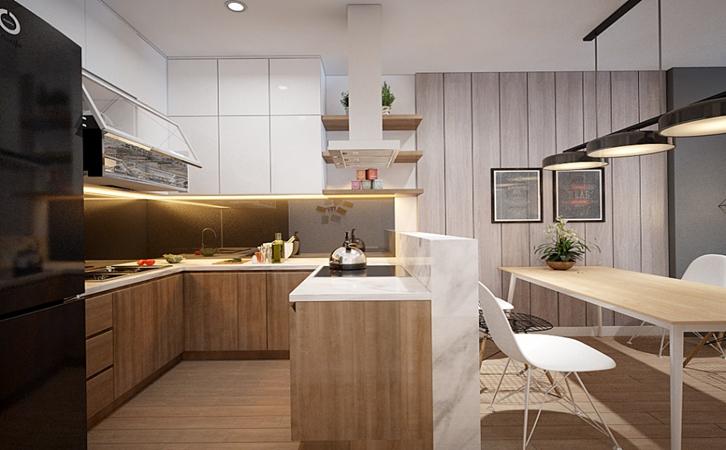 化解压迫感的厨房装修效果图
