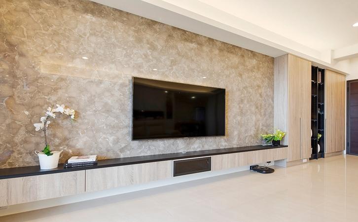 鬼斧神工装修效果的北欧风格客厅设计效果图