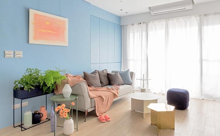 90平米现代法式风格客厅设计的效果图