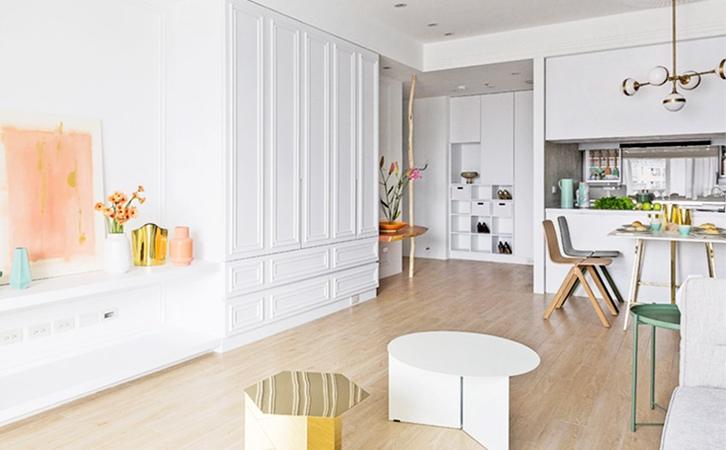 90平米现代法式风格餐厅设计的效果图