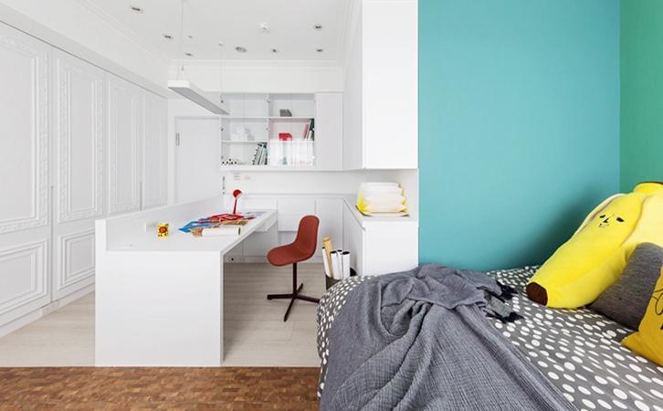90平米现代法式风格次卧设计的效果图