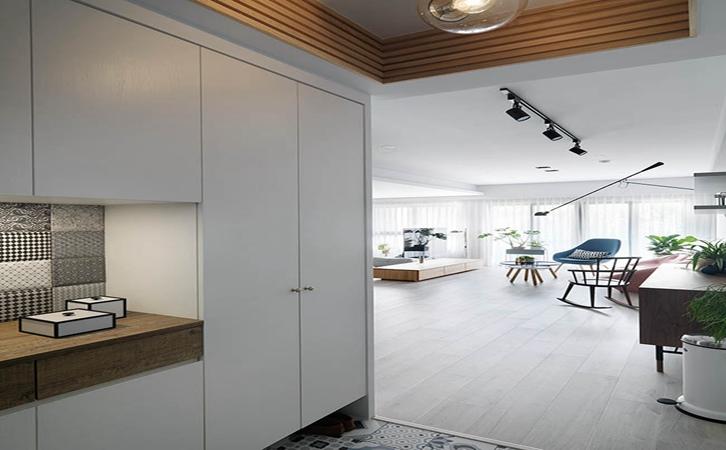 110平米北欧风格玄关设计的效果图