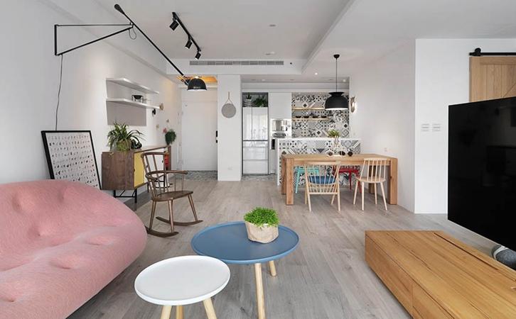 110平米北欧风格客厅设计的效果图