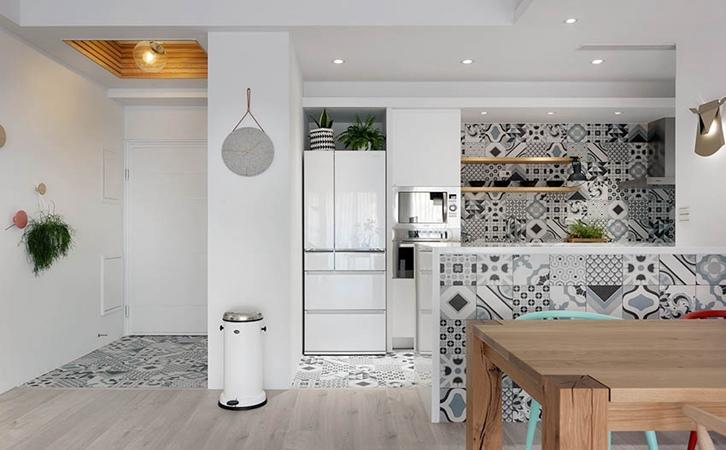 110平米北欧风格厨房设计的效果图