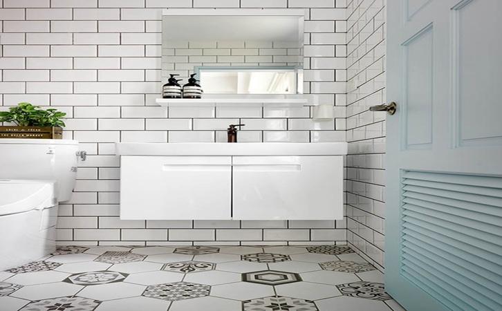 110平米北欧风格卫浴设计的效果图