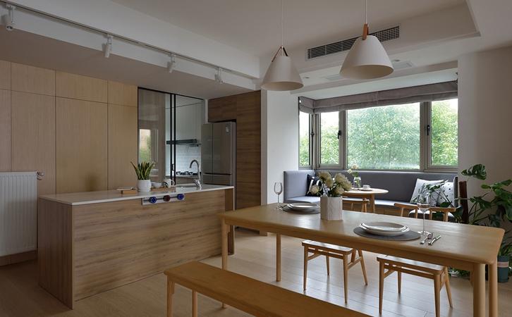 太原90平米装修案例,日式风格也能如此温暖