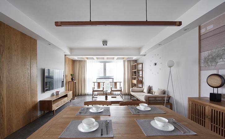 太原太化蓝月湾日式风格装修,领略悠闲自得的生活境界