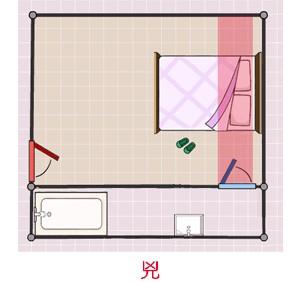装修风水学:厕所门忌对正大门、忌对床位
