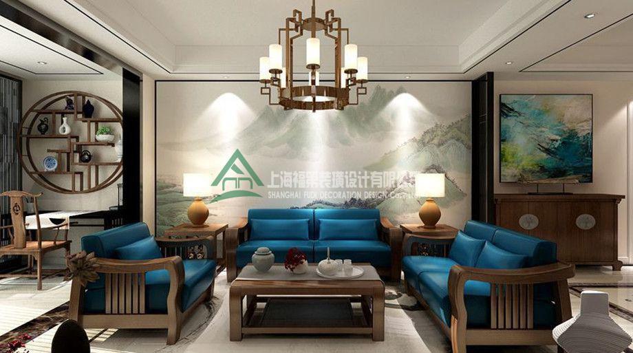 上海装修案例135方中式三居