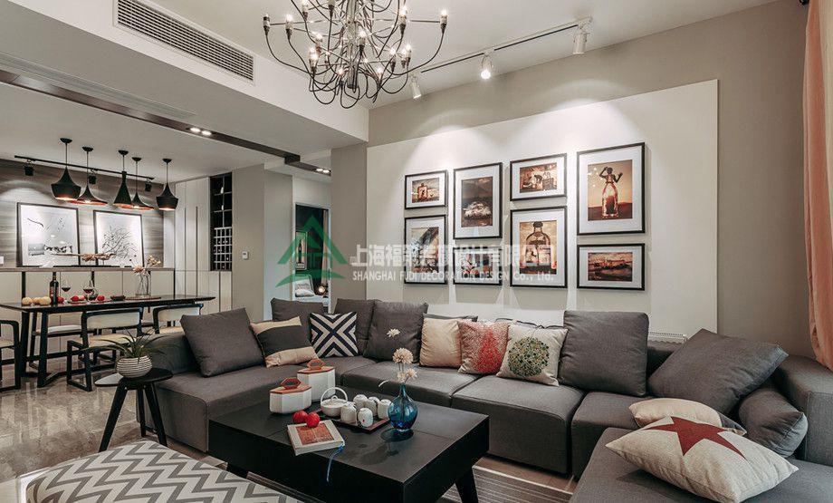 上海装修案例129方现代三居