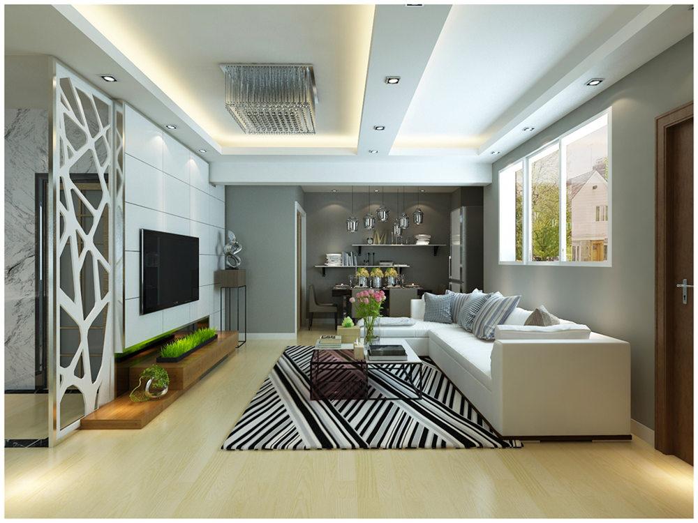 广西装修案例碧水天和98平 现代风格