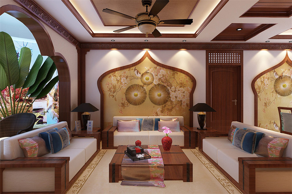 廣西裝修案例中海國際社區130平 東南亞風格