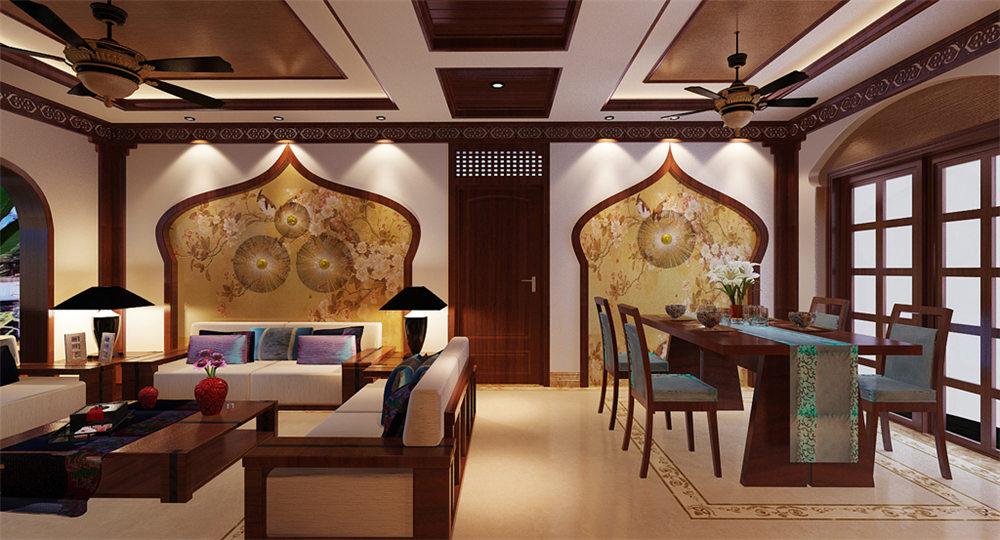 广西装修案例中海国际社区130平 东南亚风格