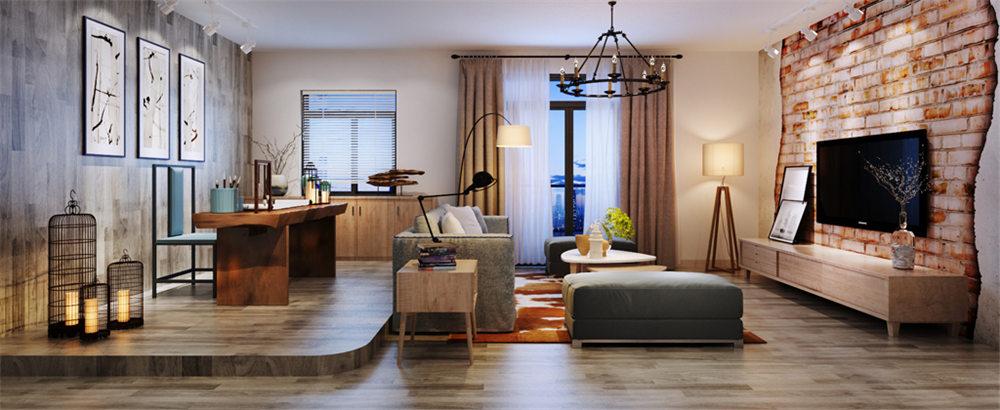 廣西裝修案例榮和山水綠城98平  現代風格