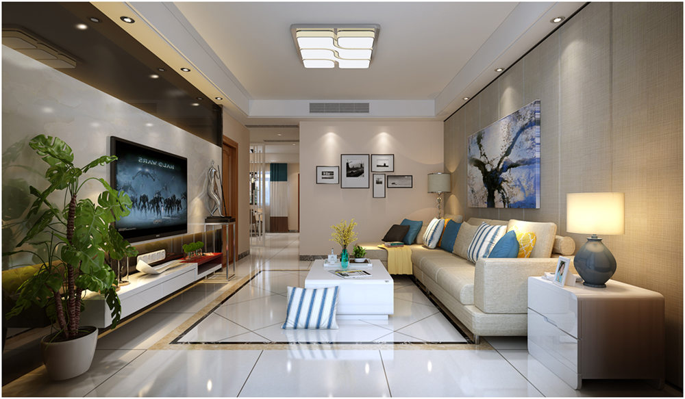 廣西裝修案例碧水天和110平 現代風格