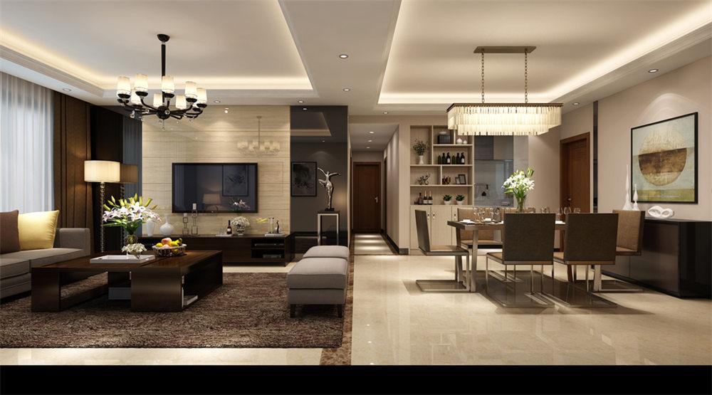 广西装修案例水利厅120平 现代风格