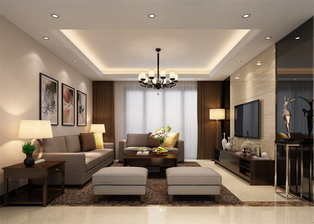 廣西裝修案例水利廳120平 現代風格