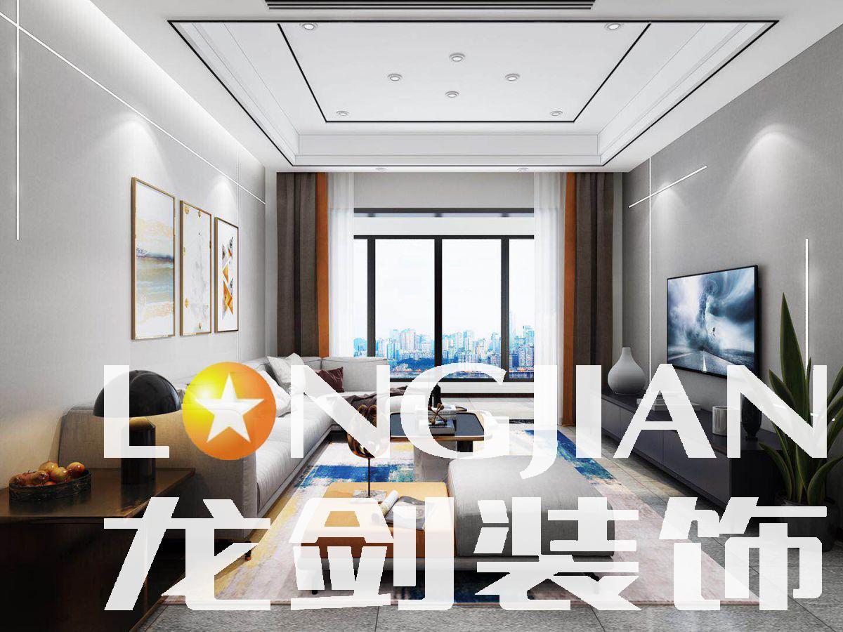 宜昌裝修案例華翔雙子星 94  現代極簡輕奢