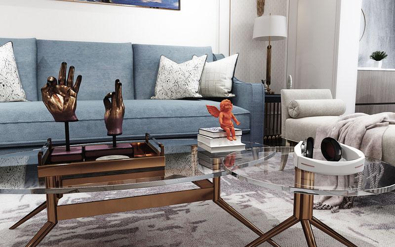 綿陽裝修案例綿陽家裝案例-溫莎國際-現代輕奢120平米