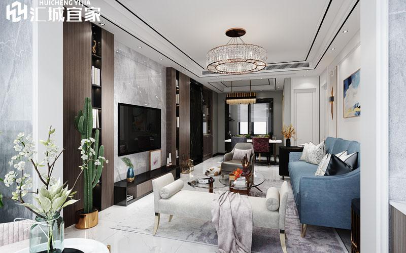 绵阳家装案例-温莎国际-现代轻奢120平米