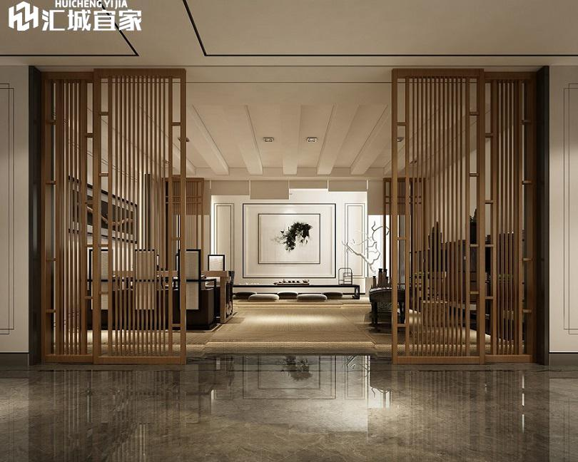 鳳山家裝案例-富臨山莊別墅-新中式作風
