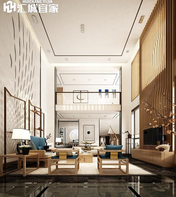 绵阳家装案例-富临山庄别墅-新中式风格