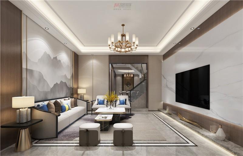 220平中央半岛别墅大宅—新中式轻奢风格
