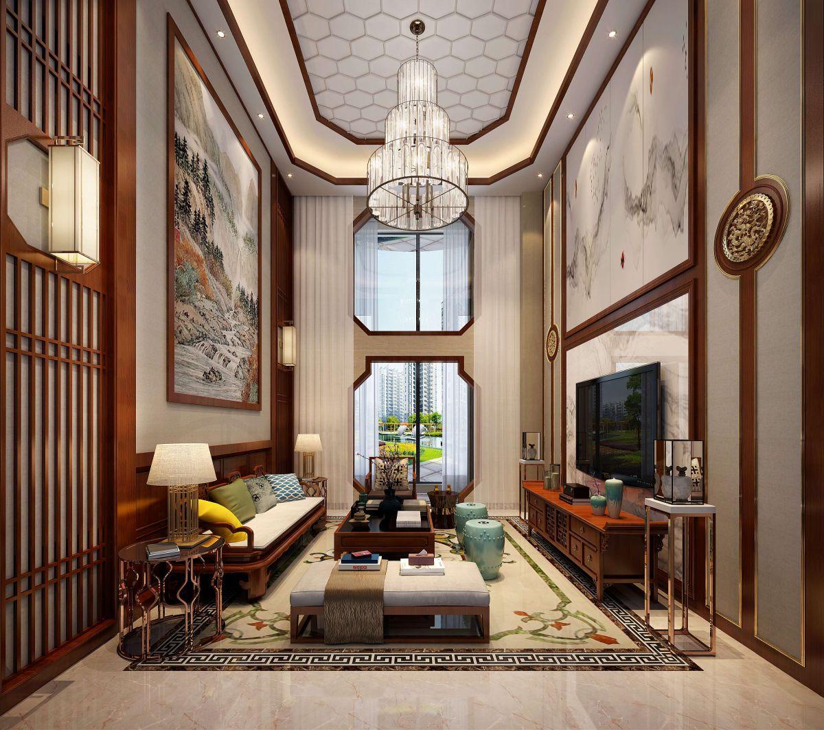張家界裝修案例陽光水岸復式樓360m2