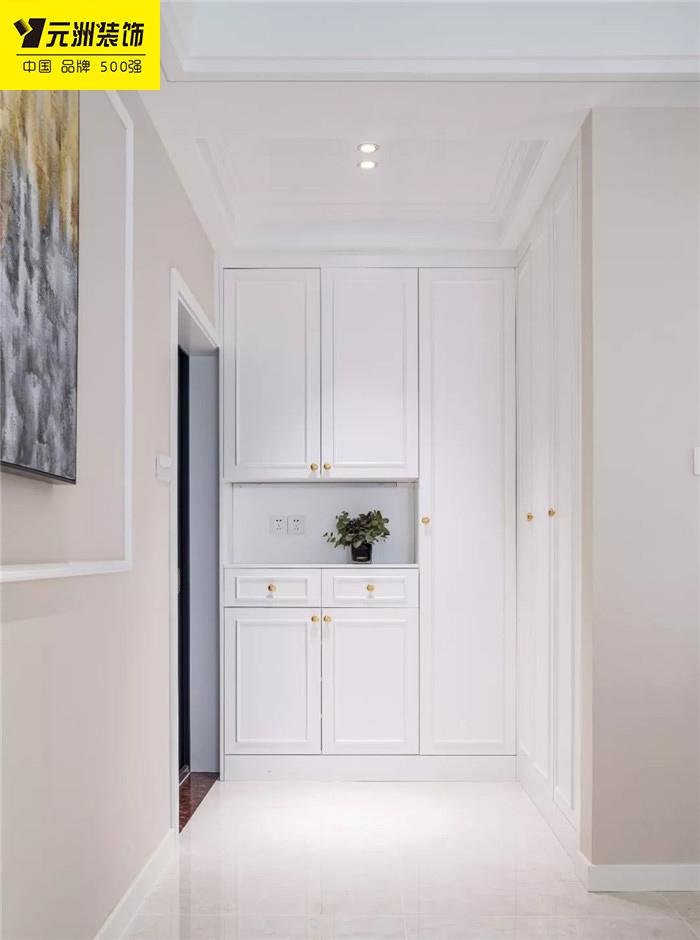 【淮南元洲裝飾】122平的美式風三房,不規則的格局,但顏值很高