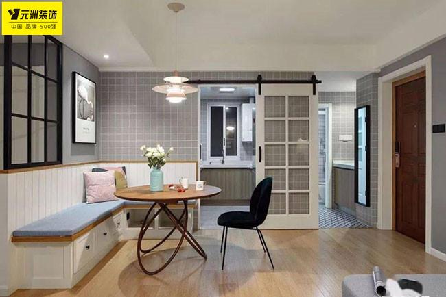 75平北歐風小戶型二居室,空間利用率也太高了吧!