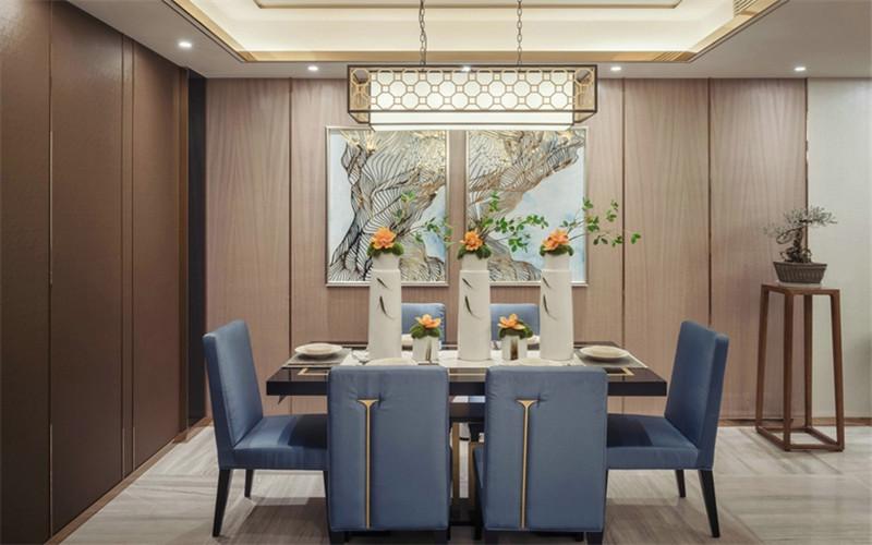 110平米裝修,新中式風格,三居室裝修